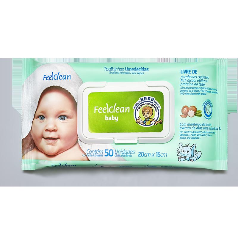 Toallas Húmedas (50 unidades) Feel Clean
