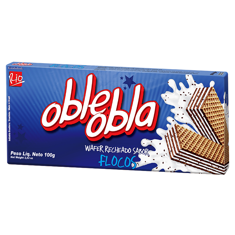 Waffle Oble Obla Flocos 100g