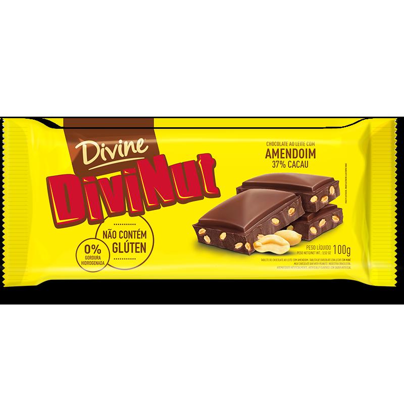 Barra de chocolate (SIN GLUTEN) Divinut Divine (100g)