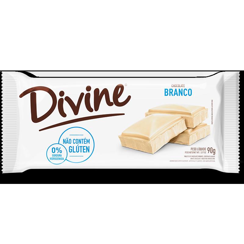 Barra de chocolate blanco Divine (90g)