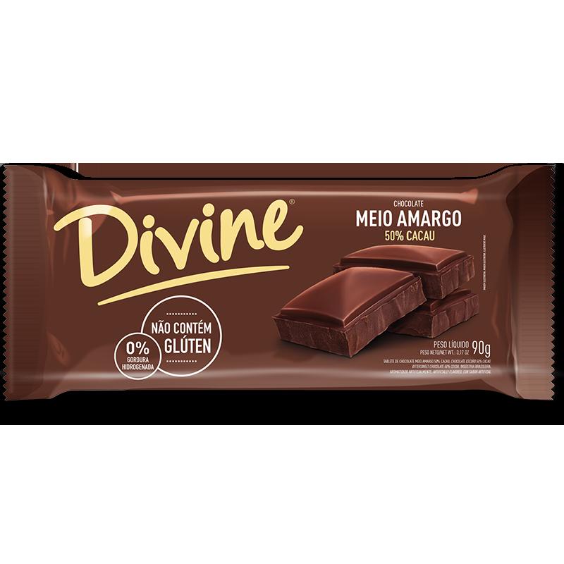 Barra de chocolate semiamargo Divine (90g)