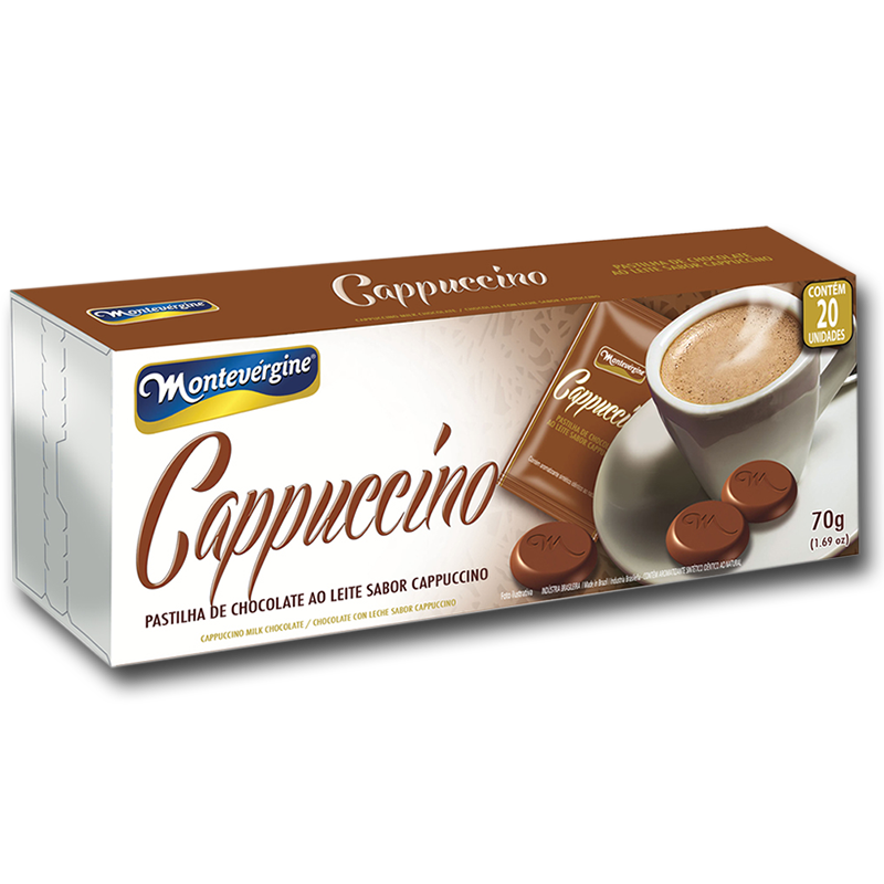 Medallones de chocolate sabor cappuccino (70g)