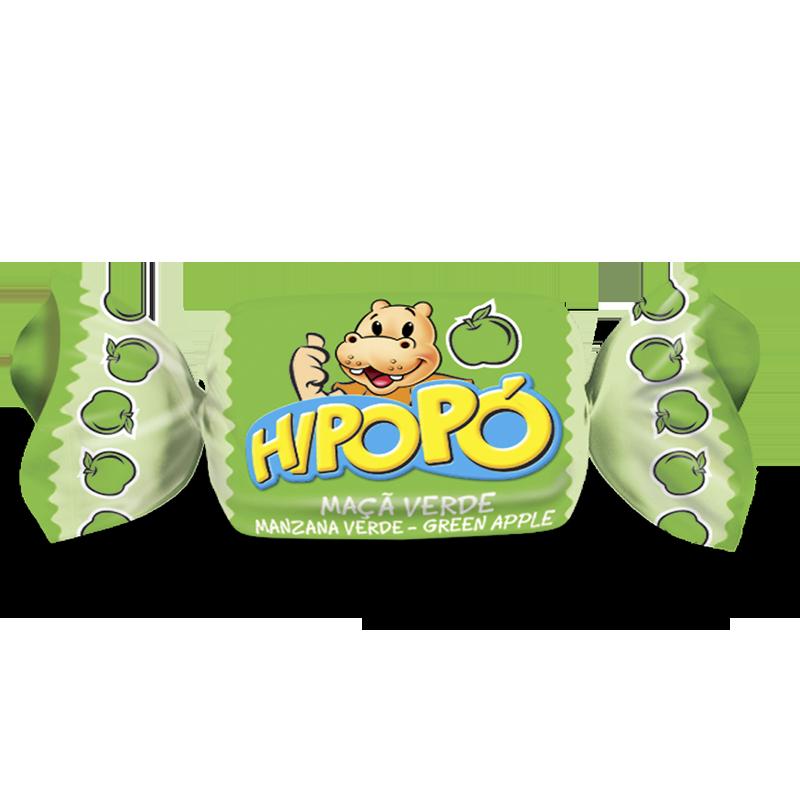 Caramelo Masticable Hipopó manzana verde