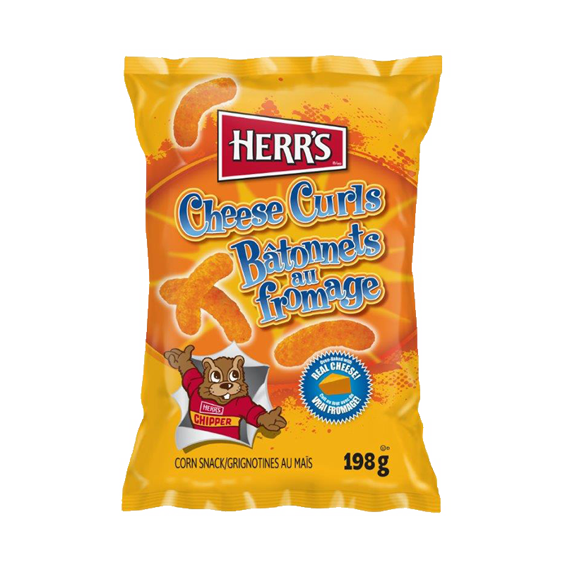 Chips Cheese Curls Fromage 198g