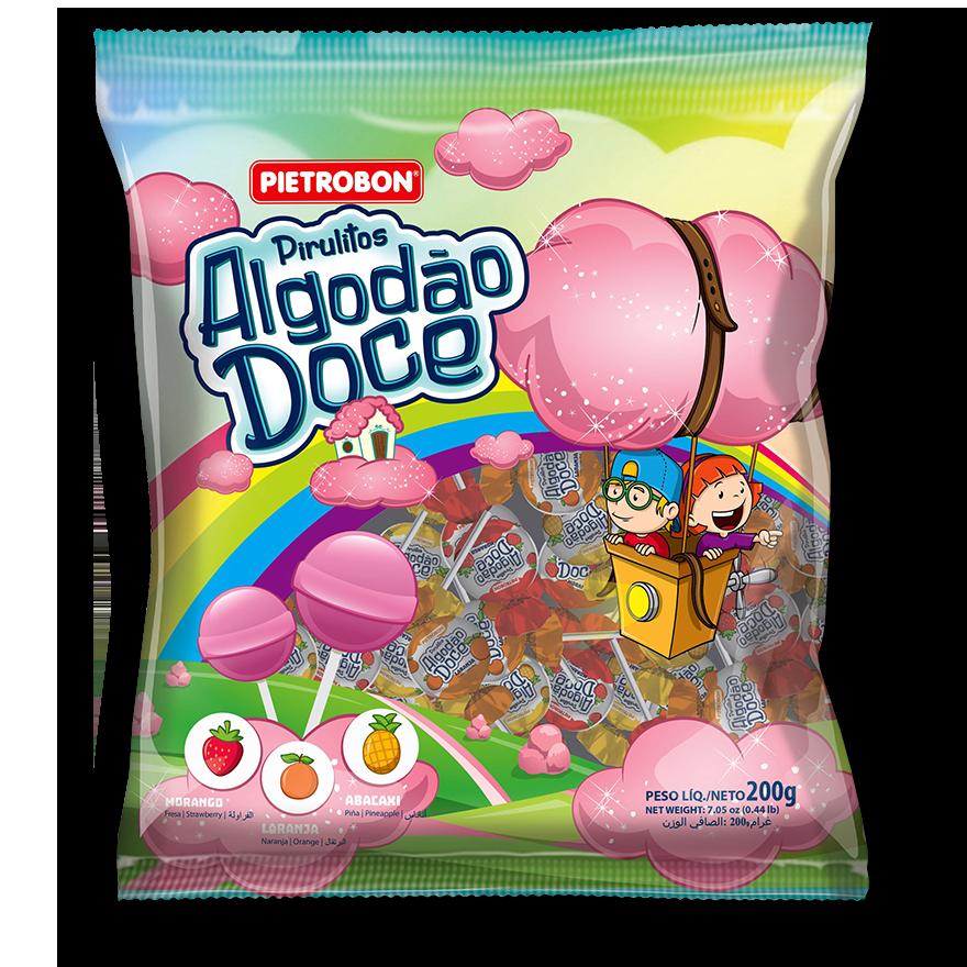 Chupetines Algodón de azúcar (formato bola)