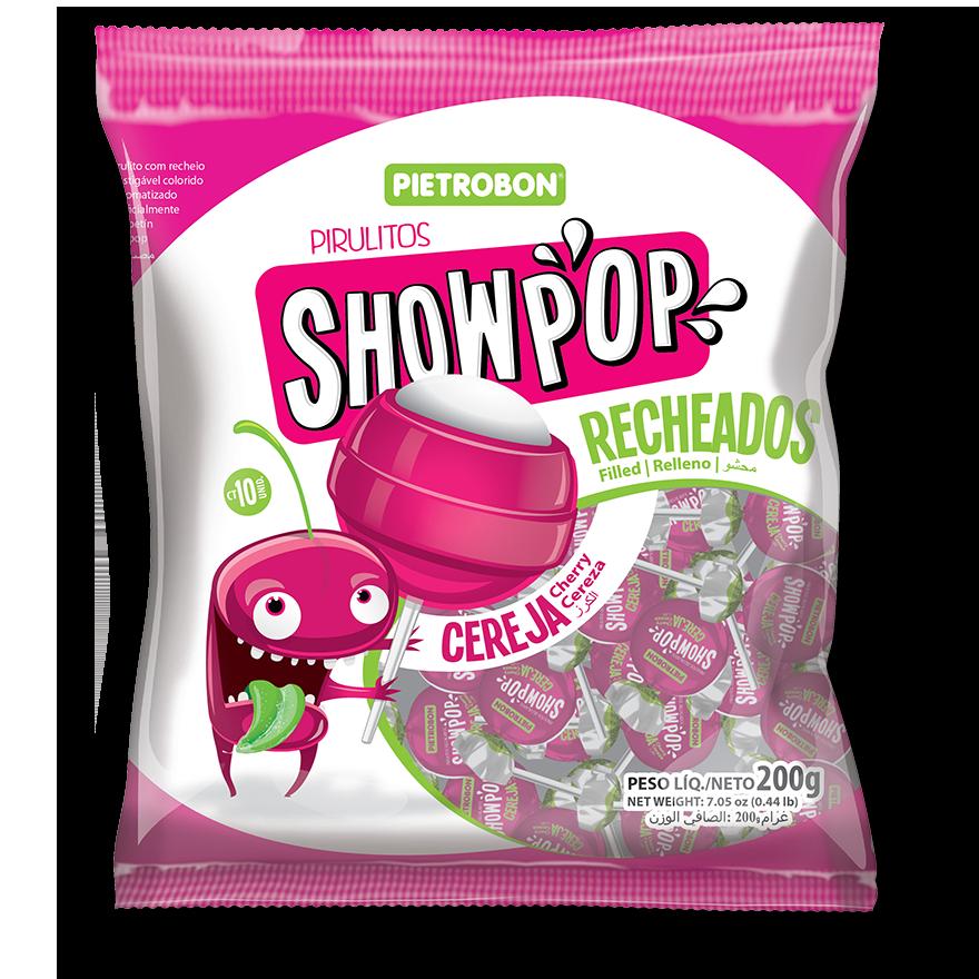 Chupetines Showpop de cereza