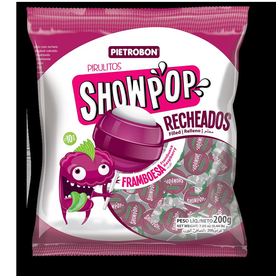 Chupetines Showpop de frambuesa