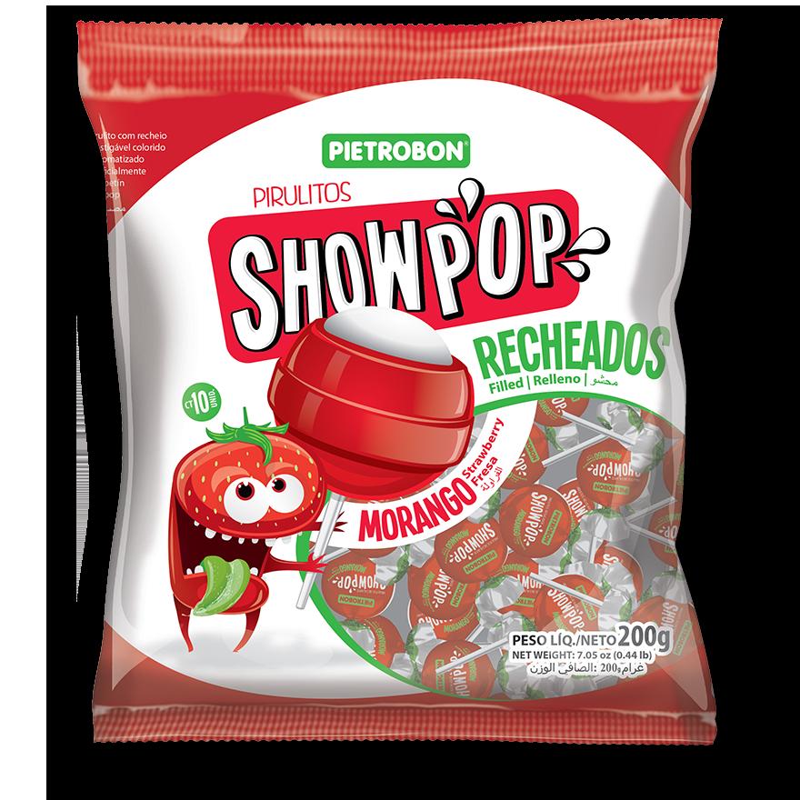 Chupetines Showpop de frutilla