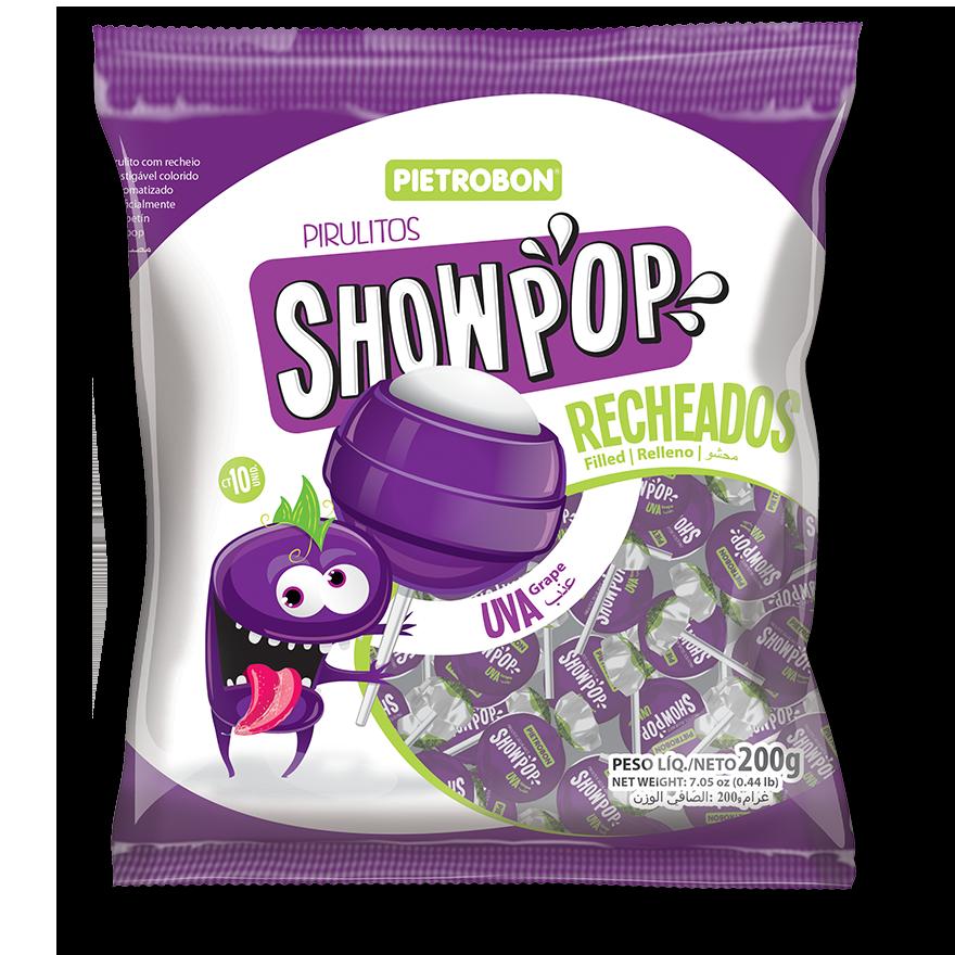 Chupetines Showpop de uva
