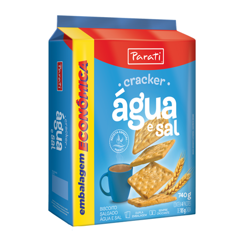 Galletas Cracker Agua y Sal 740g