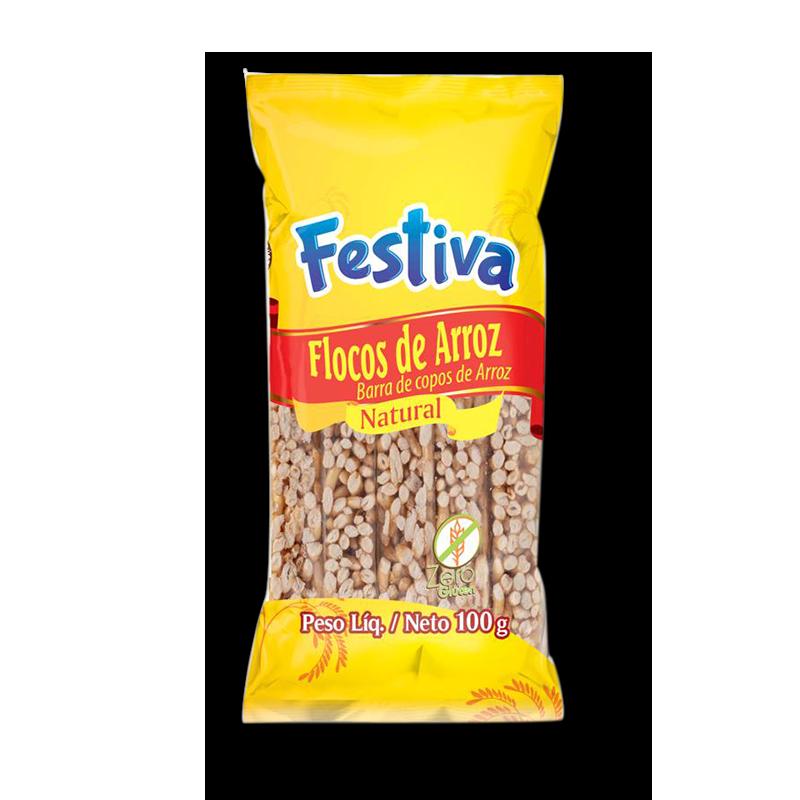 Barra de copos de arroz (100g)