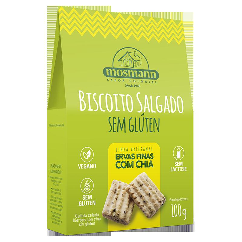 Galleta Casera Salada de Chía y finas hierbas 100grs