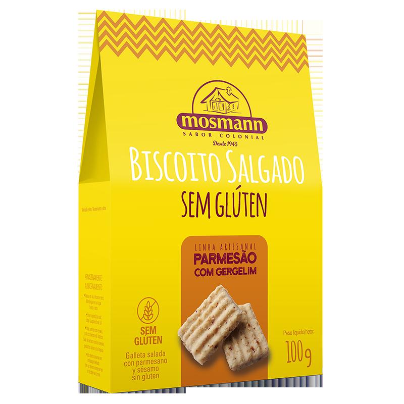 Galleta Casera Salada de Parmesano y Sesamo 100grs