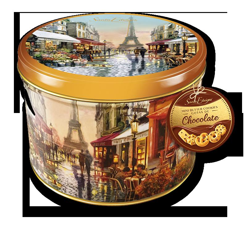 Galleta de manteca lata 200 g - Gotas de chocolate