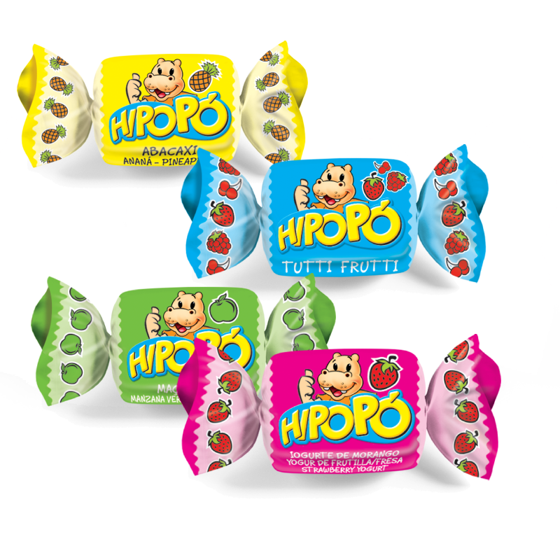 Caramelo Masticabes Hipopó Surtidos 600gr