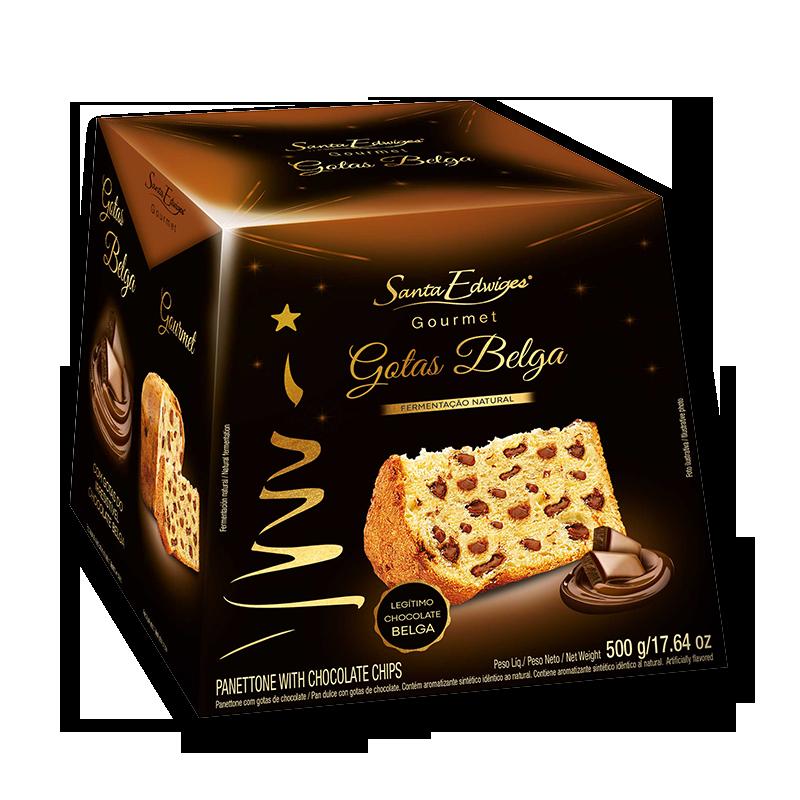 Pan Dulce Gourmet con Gotas Belga Santa Edwiges 500g