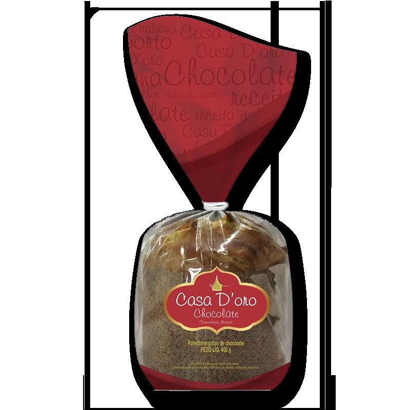 Panettone Casa D'oro Chocolate 400 gr (Bolsa)