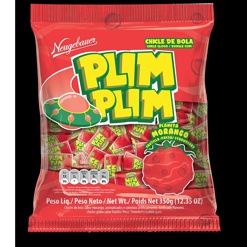 Chicles Plim Plim sabor frutilla - 350gr