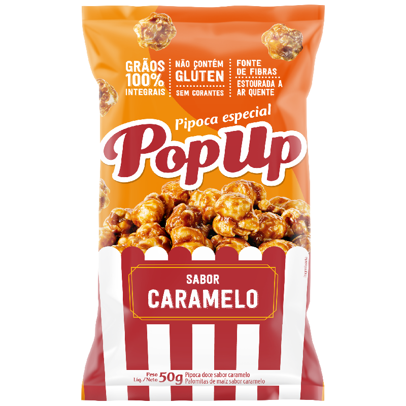 Pop Up Sabor Caramelo 50g