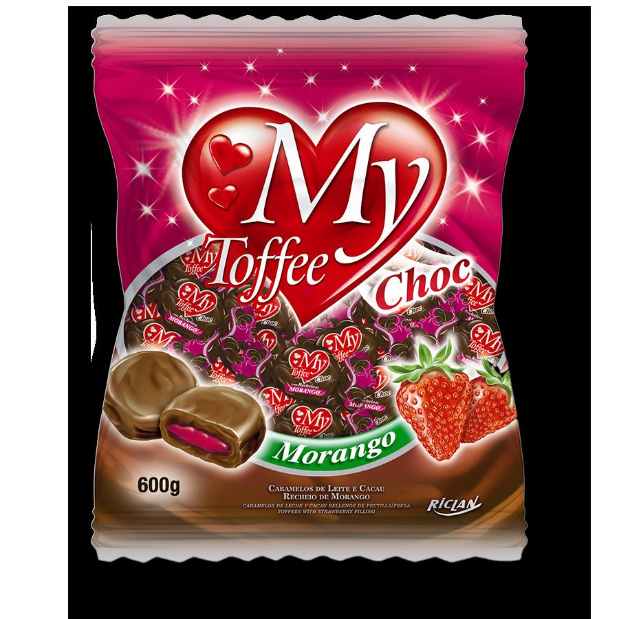Caramelos masticables My Toffee de chocolate y frutilla (600g)