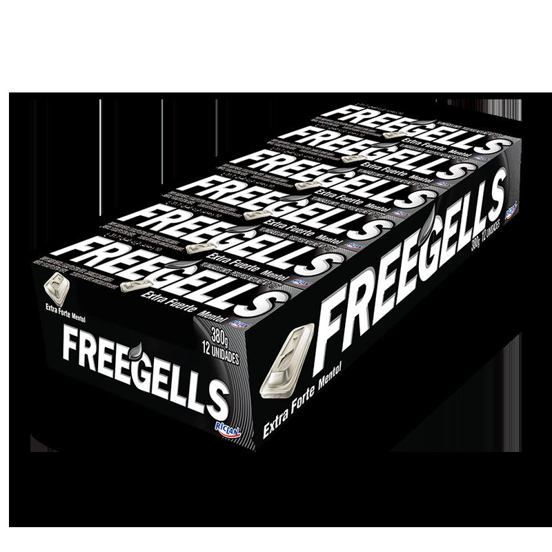 Pastillas Freegells de mentol extra fuerte