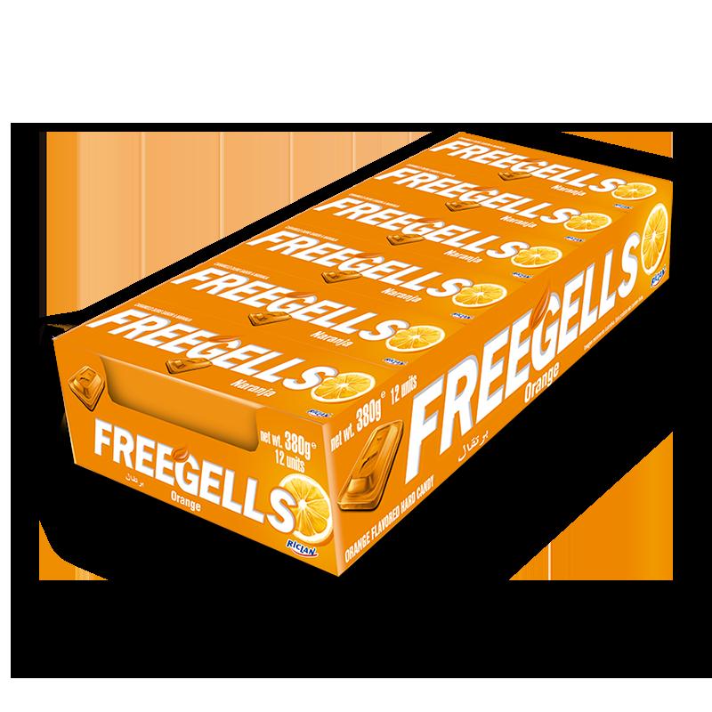 Pastillas Freegells de naranja