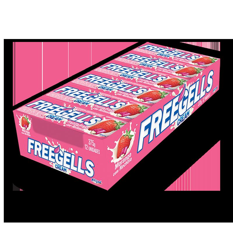 Pastillas Freegells Cream de frutilla