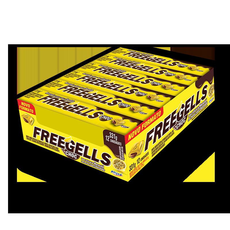 Pastillas Freegells de maracuyá y chocolate