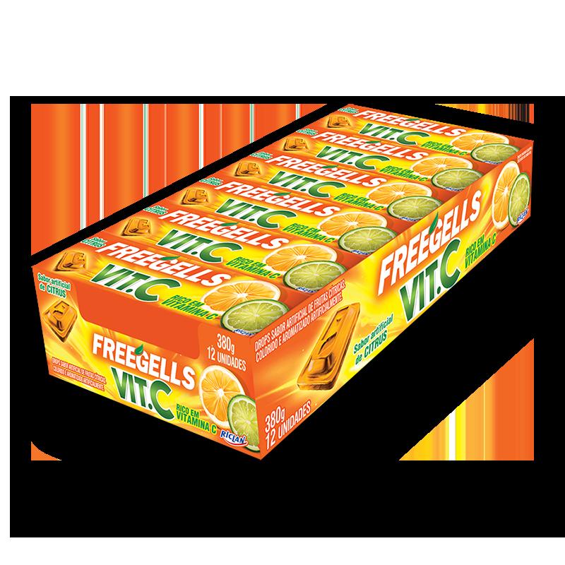 Pastillas Freegells Vit C Citrus
