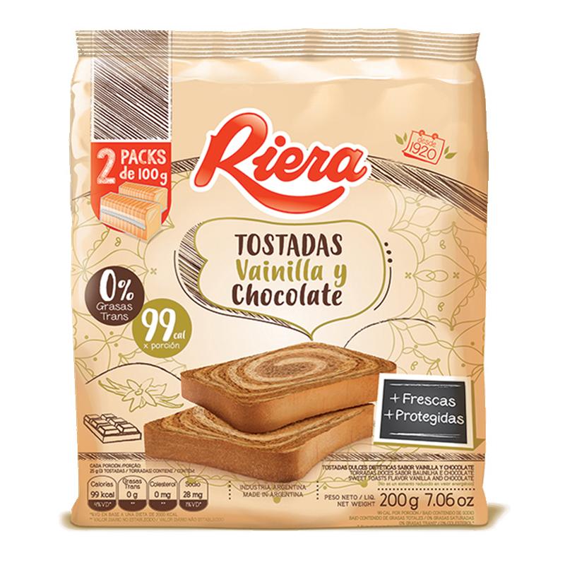 Tostada Riera Vainilla y Chocolate