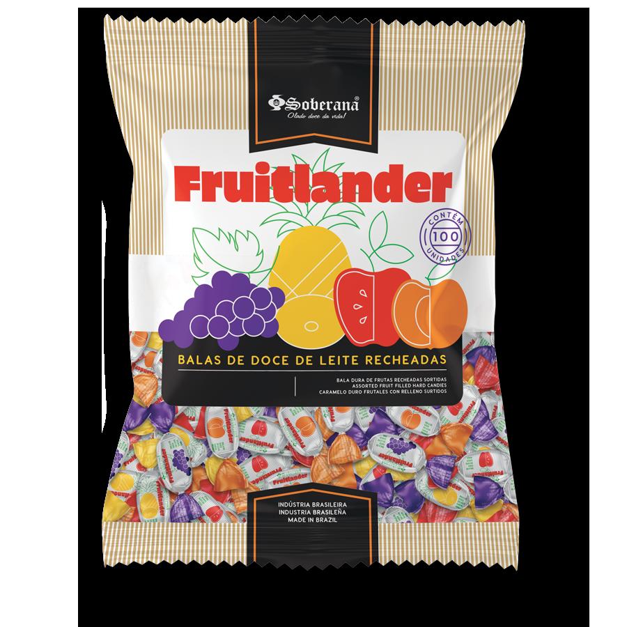 Caramelos Fruitlander de dulce de leche rellenos