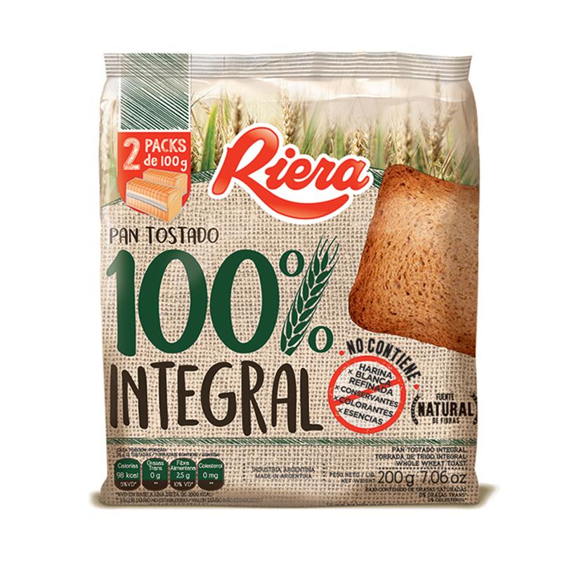 Tostada Riera 100% Integral